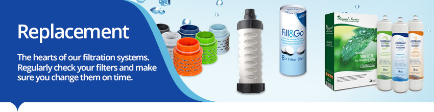Water Filter Cartridges for countertop, undersink and reverse osmosis systems