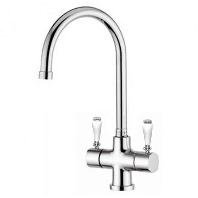 Osmio Victoria Chrome 3-Way (Tri-flow) Kitchen Tap