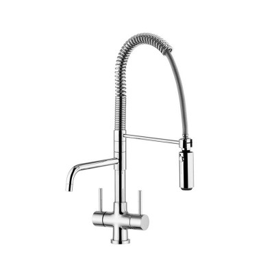 Quadro Azzurra Ceramic 3-Way Tri-flow Kitchen Tap Spray Hose
