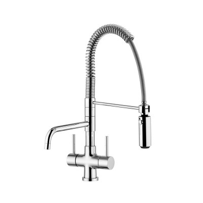 Quadro Azzurra Breve 3-Way Tri-flow Kitchen Tap Spray Hose