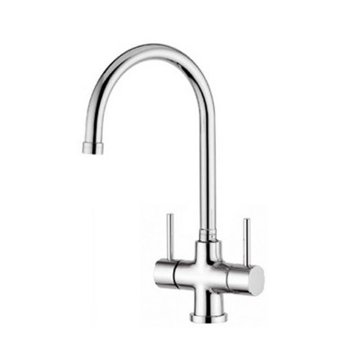 Quadro Chiara Chrome 3-Way Tri-flow Kitchen Tap